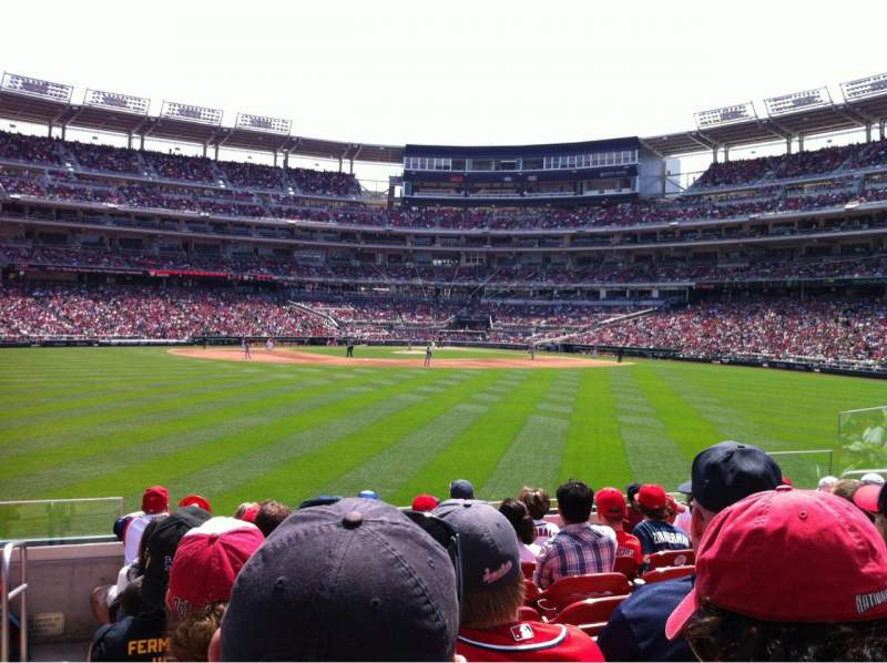 Seating view for Nationals Park Section 100 Row J Seat 17