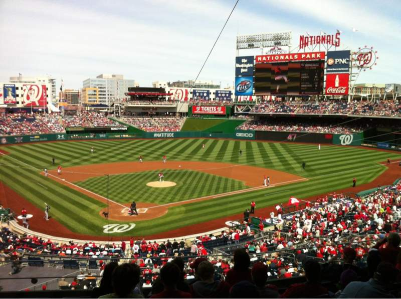 Seating view for Nationals Park Section 215 Row G Seat 13