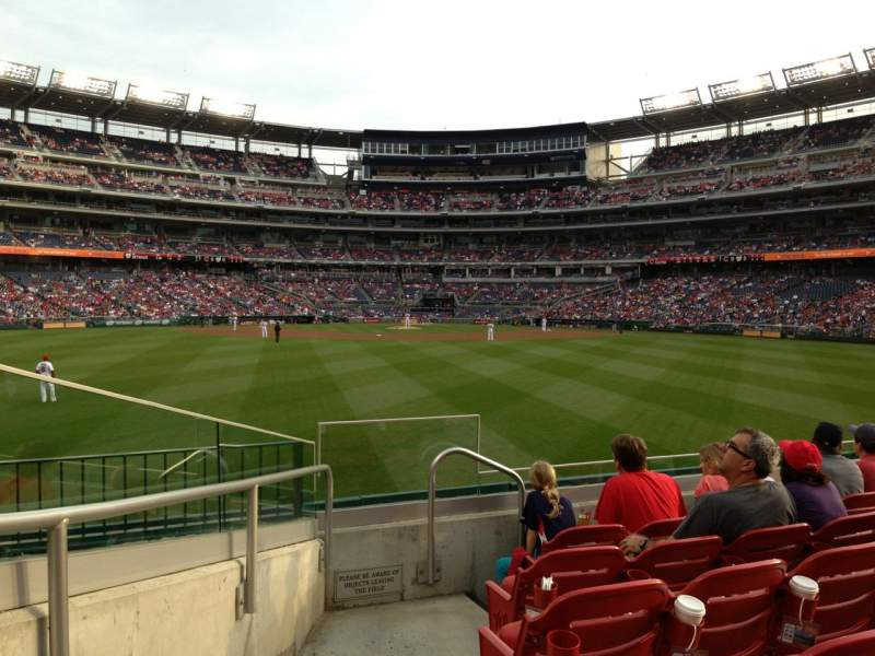 Seating view for Nationals Park Section 100 Row F Seat 34