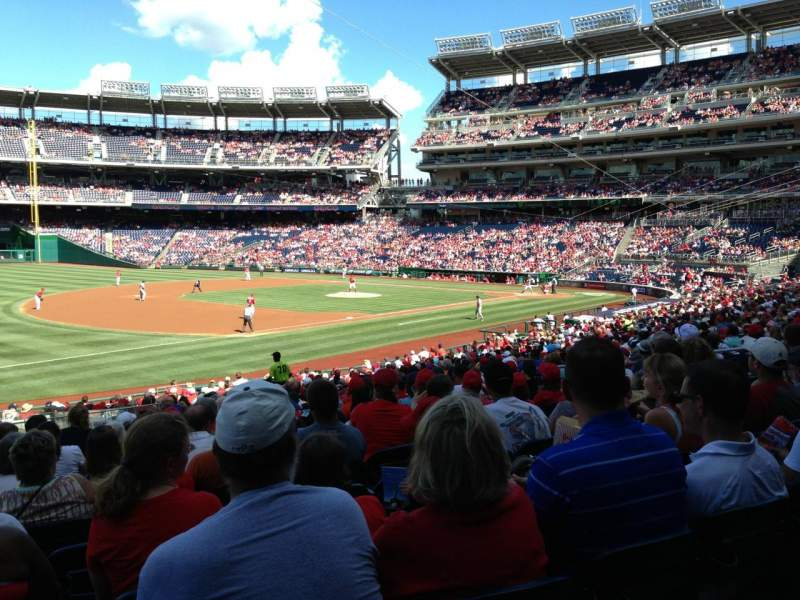 Seating view for Nationals Park Section 112 Row JJ Seat 16