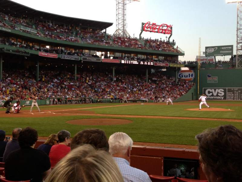 Seating view for Fenway Park Section Field Box 31 Row E Seat 1