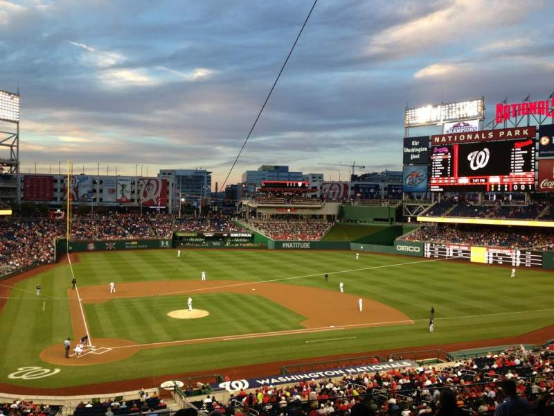 Seating view for Nationals Park Section 217 Row H Seat 15