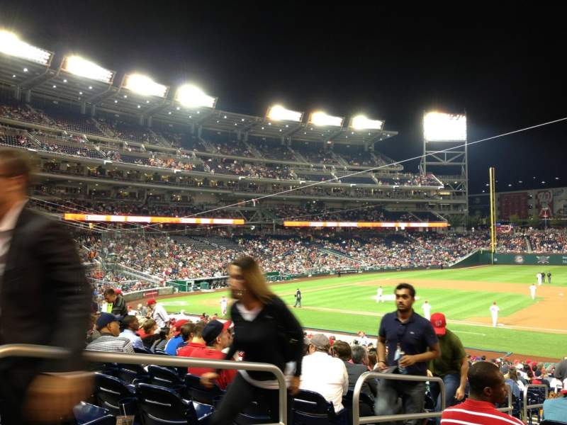 Seating view for Nationals Park Section 131 Row LL