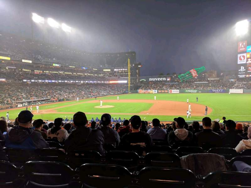 Seating view for Oracle Park Section 107 Row 31 Seat 8
