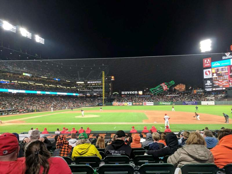 Seating view for Oracle Park Section 108 Row L Seat 10