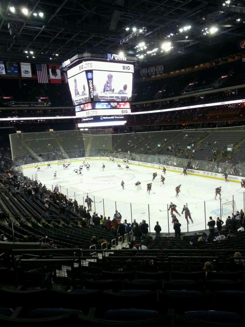 Seating view for Nationwide Arena Section 122 Row FF Seat 10