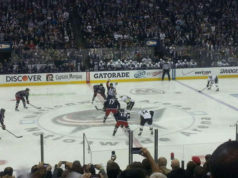 Seating view for Nationwide Arena Section 115 Row Q Seat 10