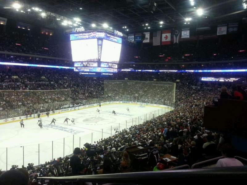 Seating view for Nationwide Arena Section 117 Row JJ Seat 2
