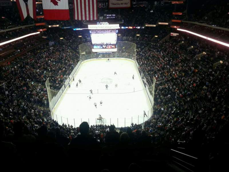 Seating view for Nationwide Arena Section 210 Row L Seat 2