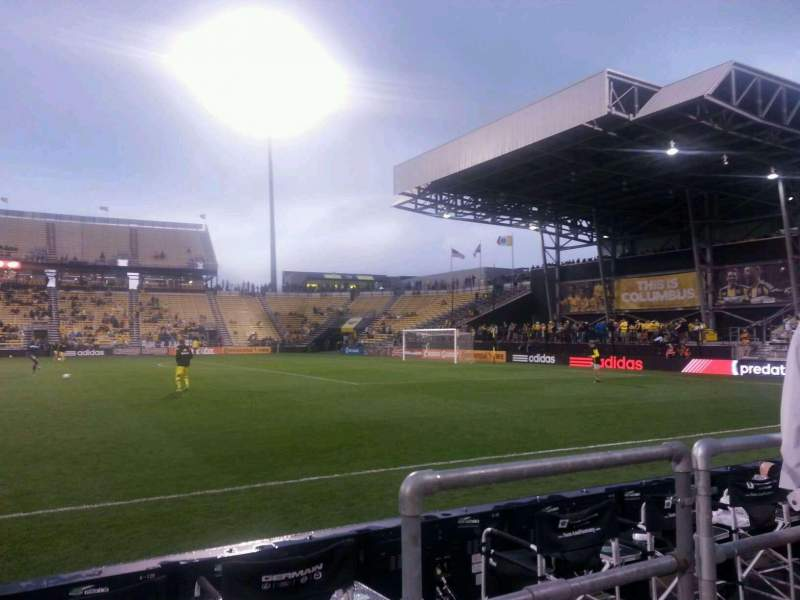 Seating view for Mapfre Stadium Section 104 Row 2 Seat 10