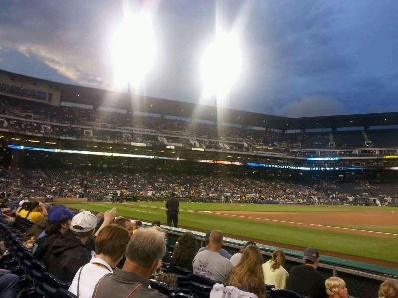 Seating view for PNC Park Section 6 Row E Seat 8