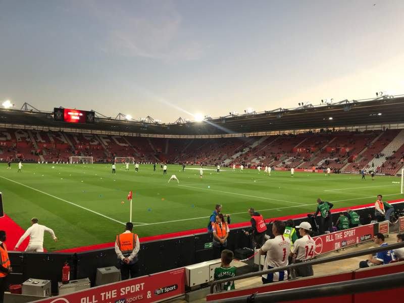 Seating view for St Mary's Stadium Section 4748 Row H Seat 1209