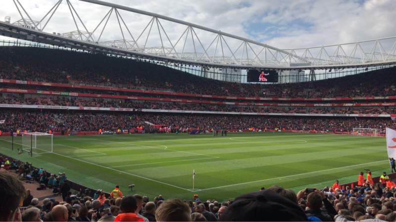 Seating view for Emirates Stadium Section 21 Row 24 Seat 647