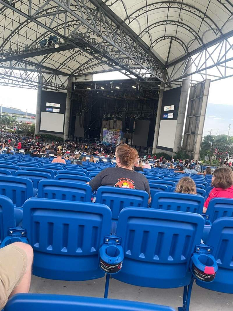 Seating view for MidFlorida Credit Union Amphitheatre Section 16 Row V Seat 26