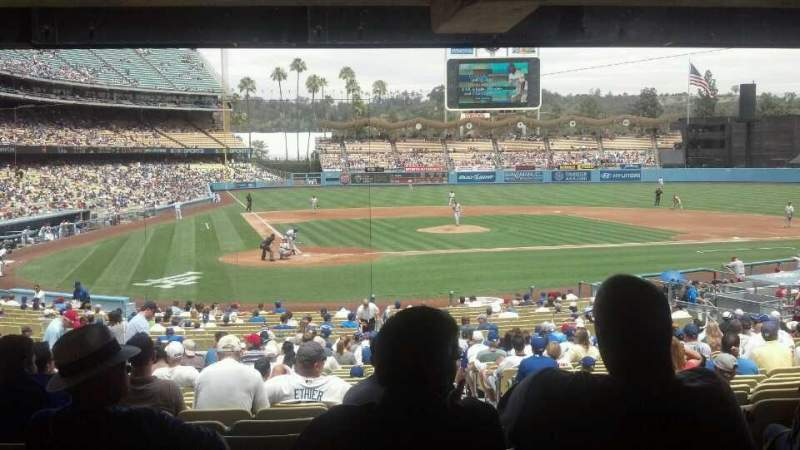 Seating view for Dodger Stadium Section 8FD Row y Seat 12
