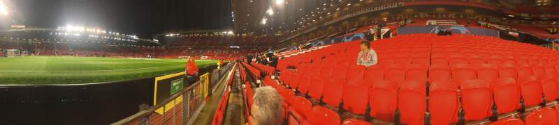 Seating view for Old Trafford Section N1404 Row BB Seat 240