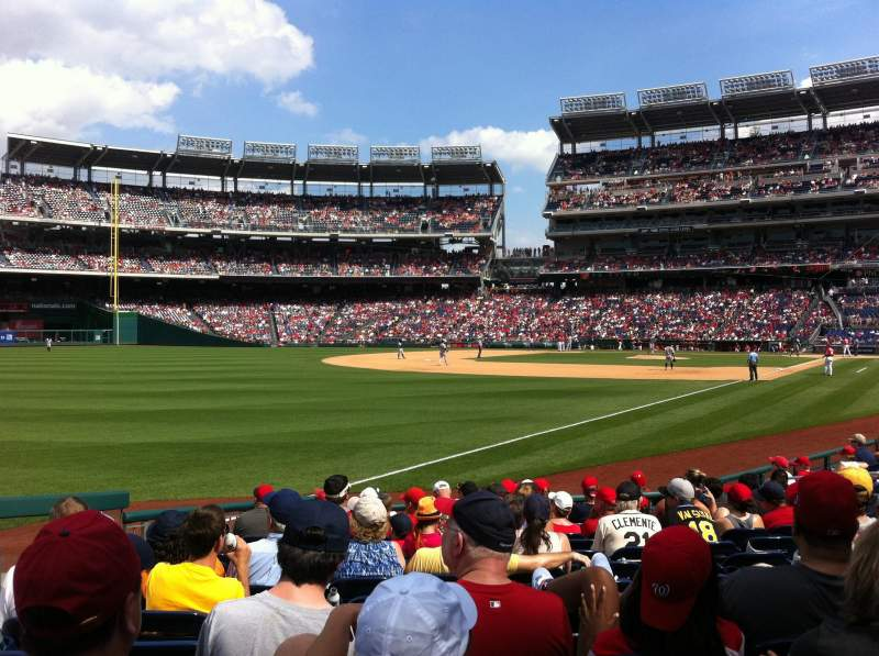 Seating view for Nationals Park Section 110 Row N Seat 23