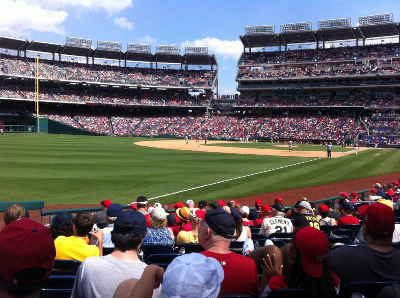 Seating view for Nationals Park Section 110 Row N Seat 24