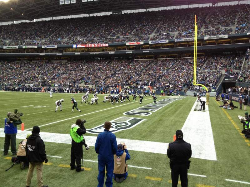 Seating view for CenturyLink Field Section 104 Row A Seat 3