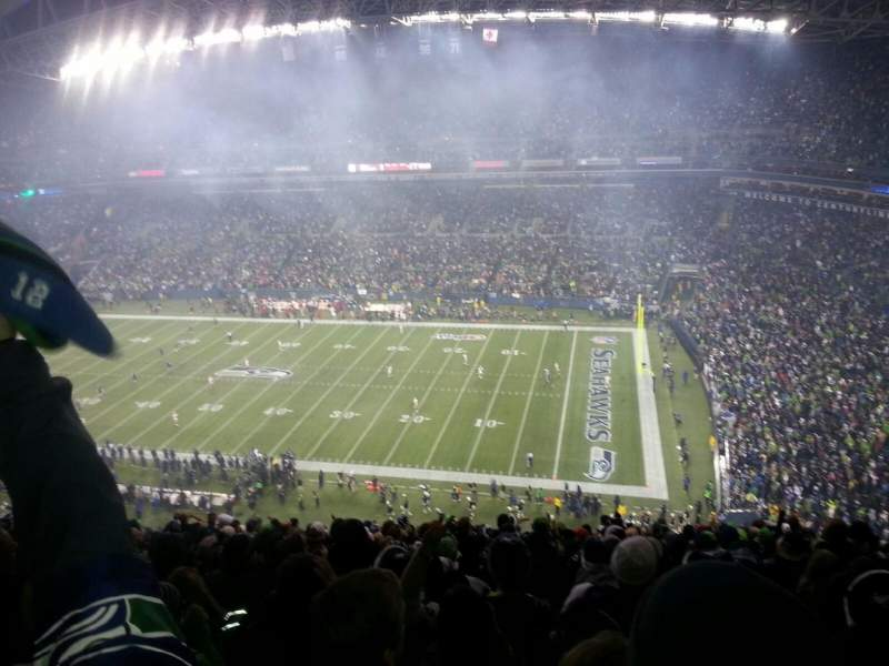 Seating view for CenturyLink Field Section 331 Row W Seat 12