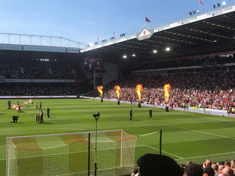 Seating view for Bramall Lane Section Kop Row Q Seat 84