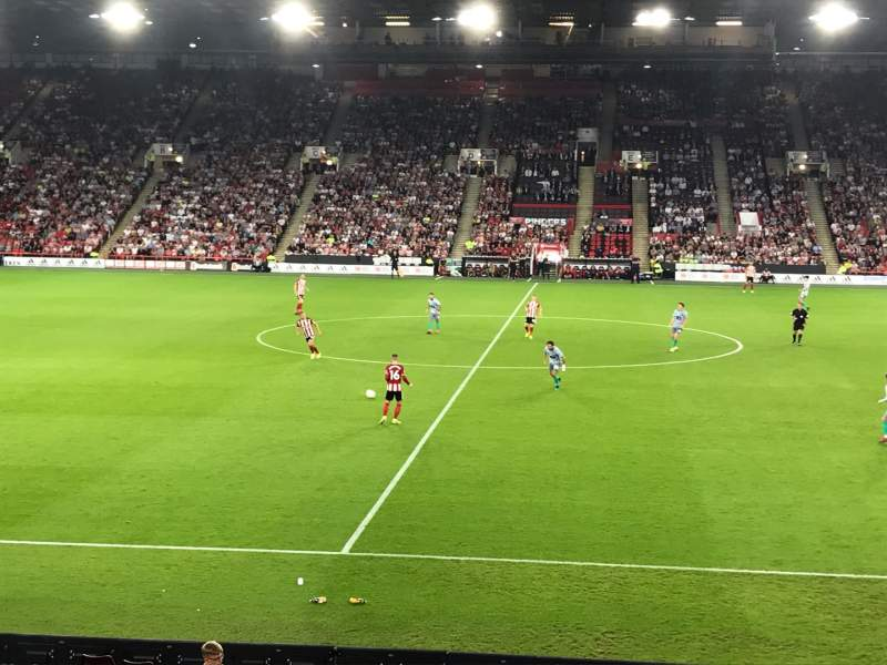 Seating view for Bramall Lane Section FEB3 Row R Seat 113