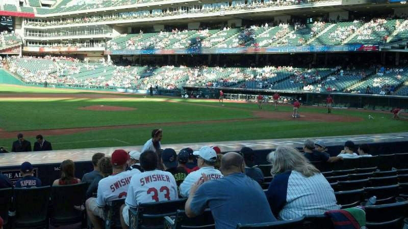 Seating view for Progressive Field Section 164 Row p