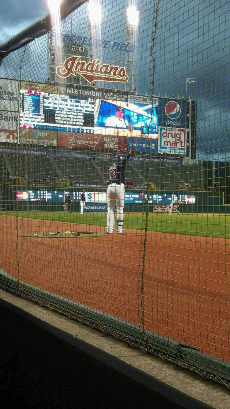 Seating view for Progressive Field Section D7
