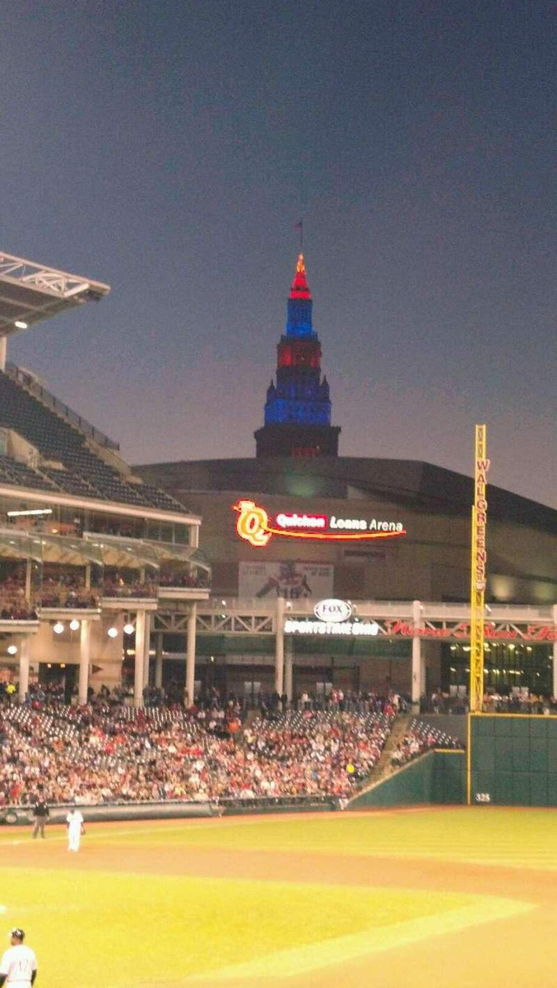 Seating view for Progressive Field Section 138 Row z Seat 9