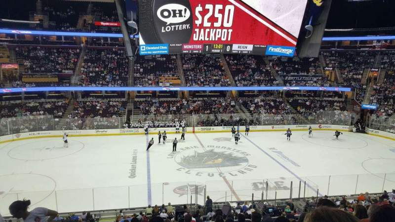 Seating view for Quicken Loans Arena Section c108 Row 24 Seat 4