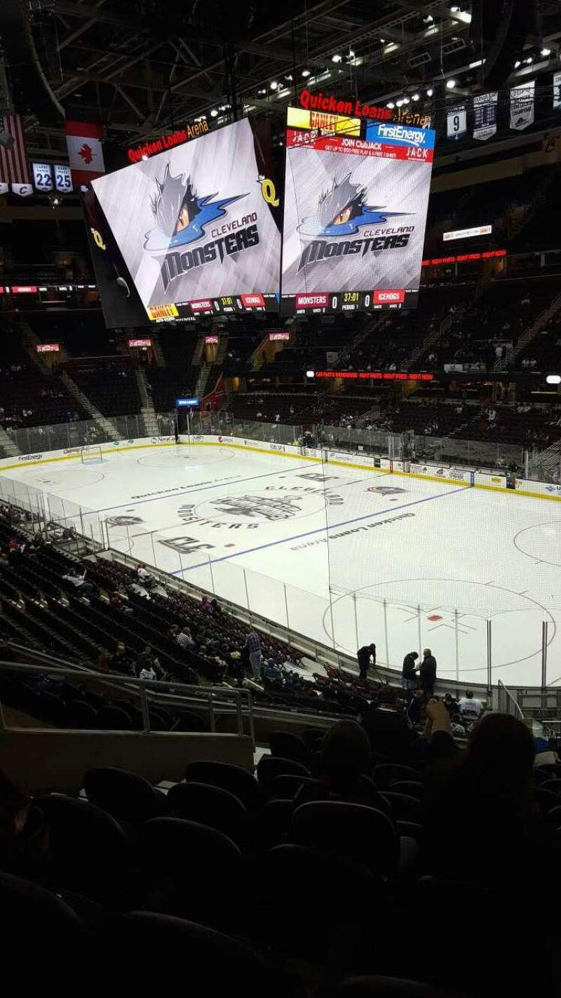 Seating view for Rocket Mortgage FieldHouse Section M117 Row 9 Seat 8