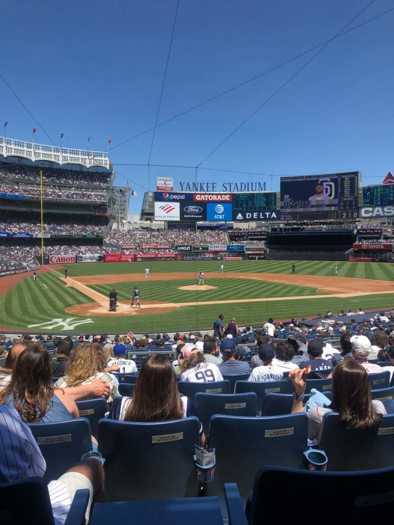 Seating view for Yankee Stadium Section 118 Row 13 Seat 8