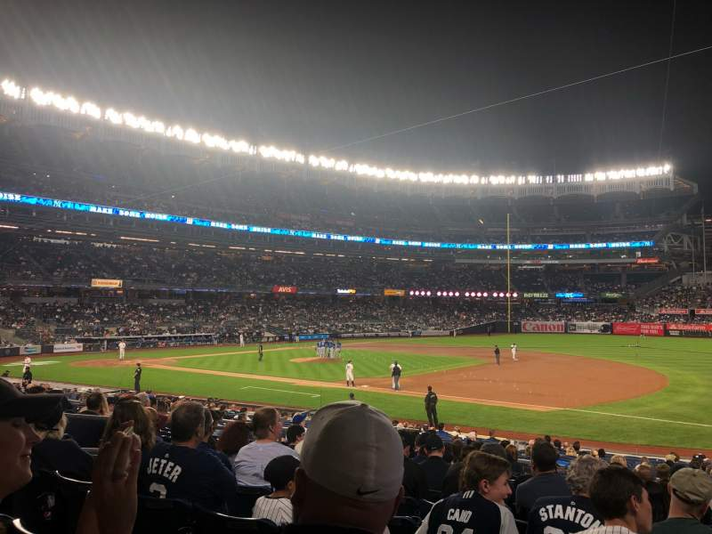 Seating view for Yankee Stadium Section 114 Row 12