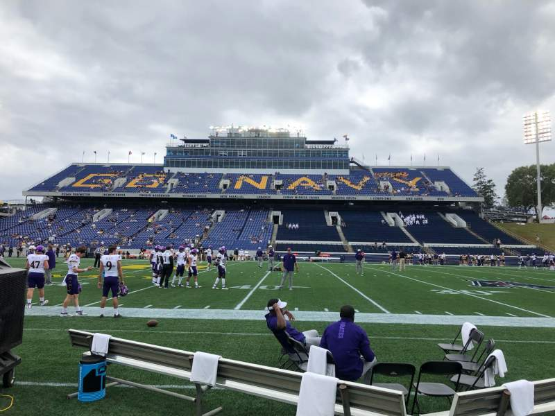 Seating view for Navy-Marine Corps Memorial Stadium Section 28 Row A Seat 19