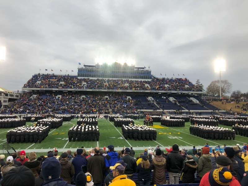 Seating view for Navy-Marine Corps Memorial Stadium Section 30 Row 7 Seat 23