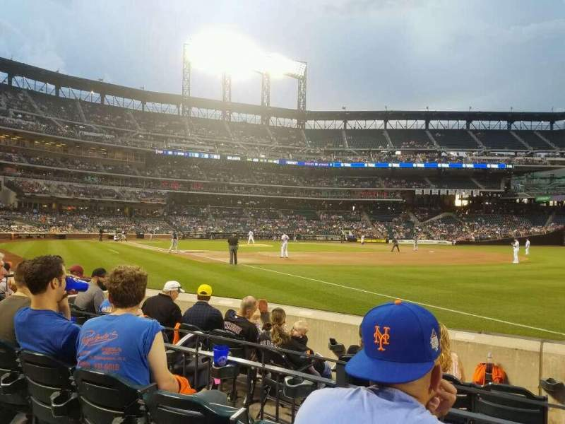 Seating view for Citi Field Section 109 Row 1 Seat 14