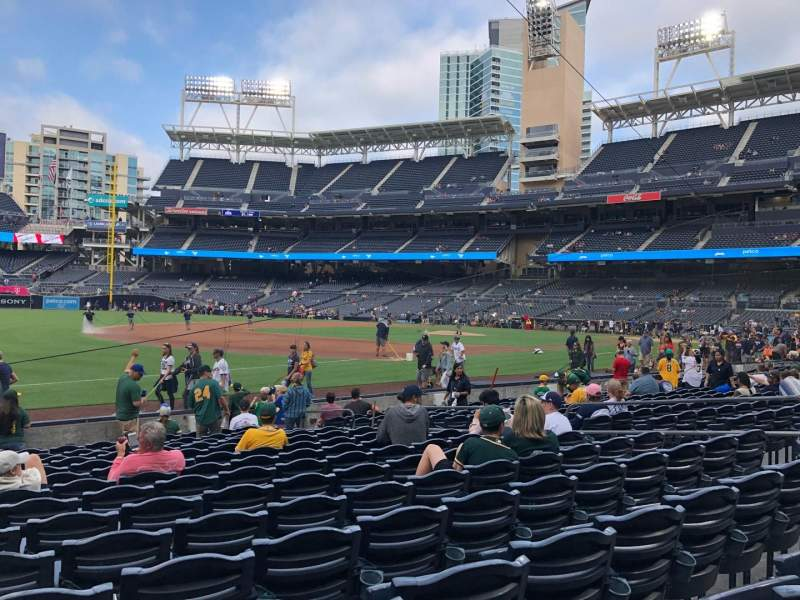 Seating view for PETCO Park Section 116 Row 14 Seat 11-15