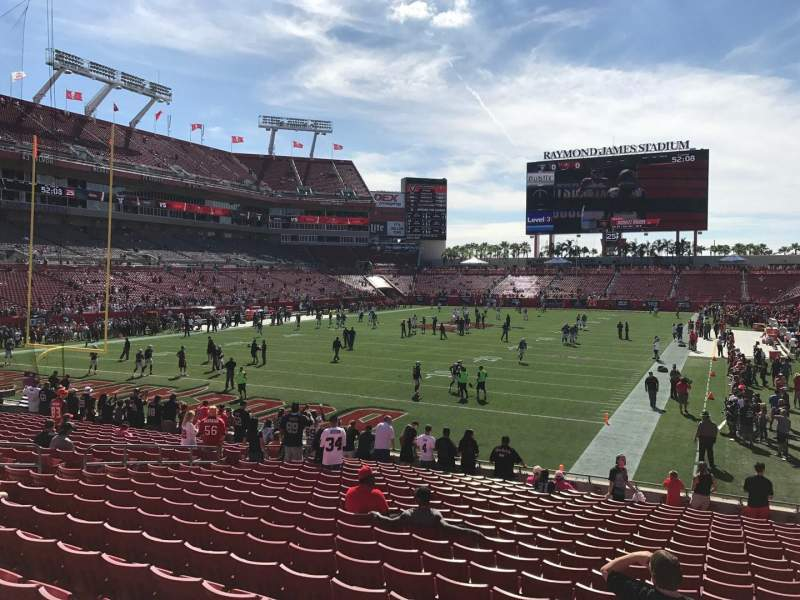 Seating view for Raymond James Stadium Section 150 Row W Seat 18-20