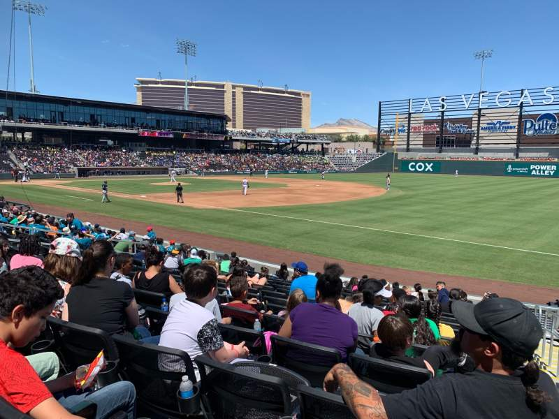 Seating view for Las Vegas Ballpark Section 104 Row N Seat 19-20