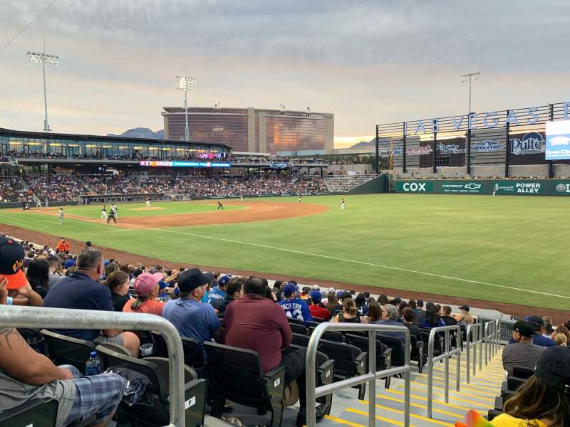 Seating view for Las Vegas Ballpark Section 102 Row R Seat 1-6