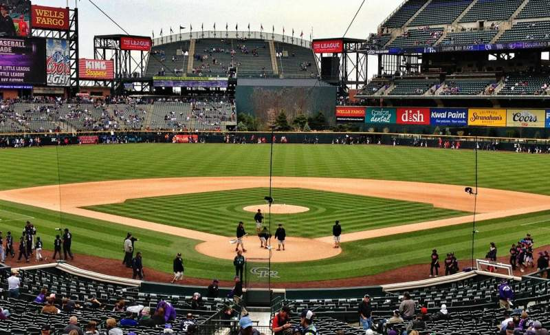 Seating view for Coors Field Section 131