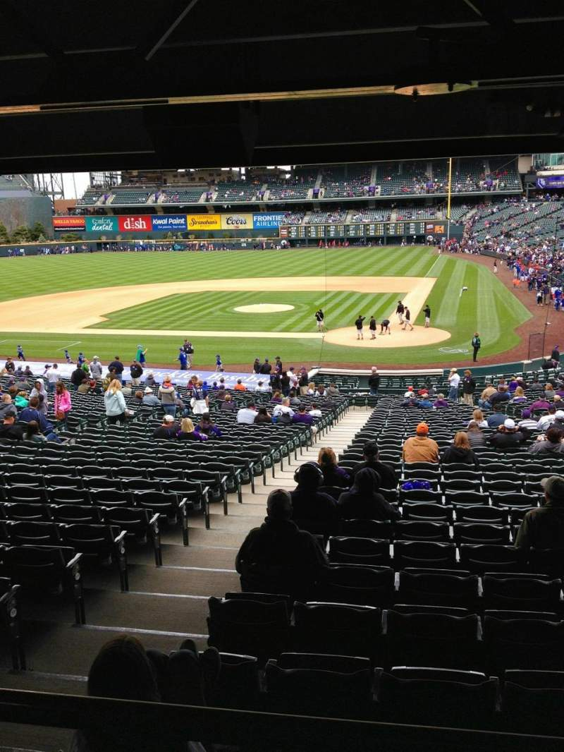 Seating view for Coors Field Section 133