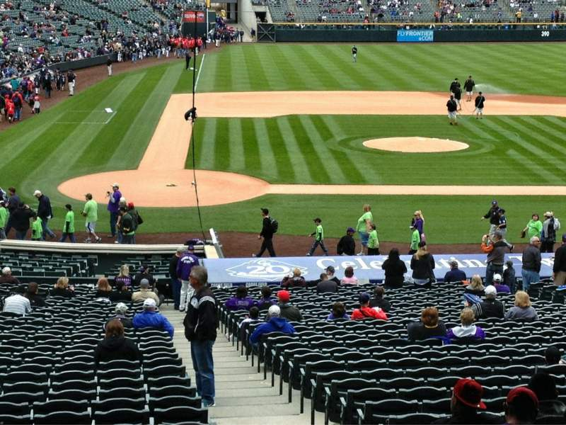 Seating view for Coors Field Section 126