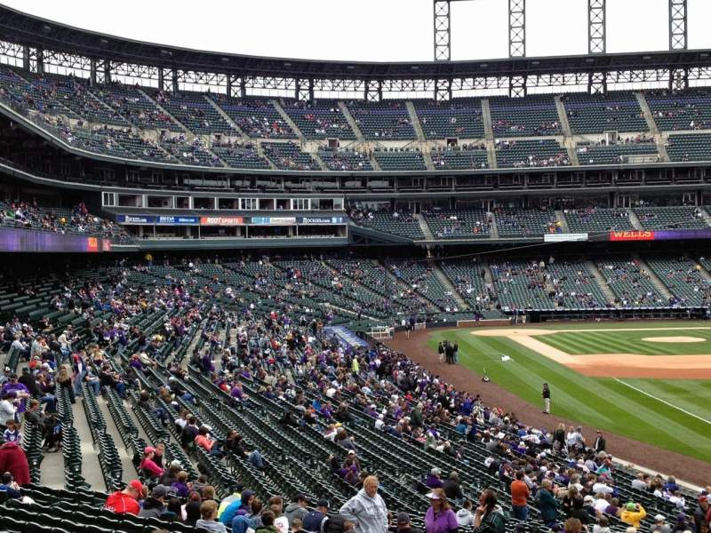 Seating view for Coors Field Section 111