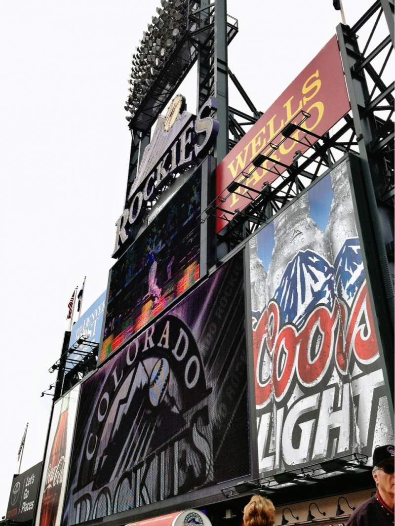 Seating view for Coors Field Section 150