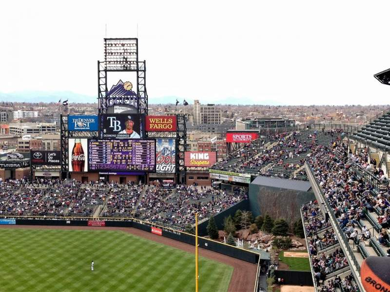 Seating view for Coors Field Section 313 Row 19 Seat 4