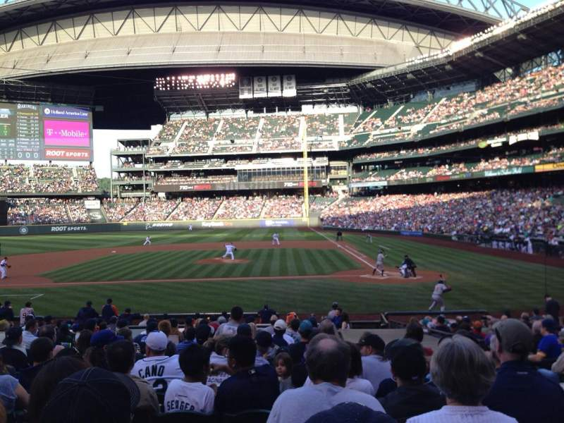 Seating view for Safeco Field Section 136 Row 22 Seat 4