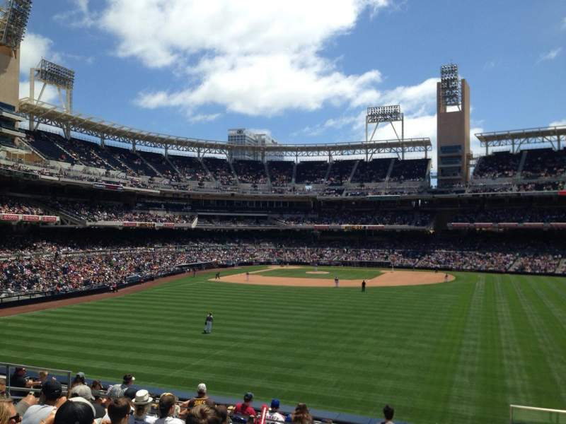 Seating view for Petco Park Section 135 Row 14 Seat 24