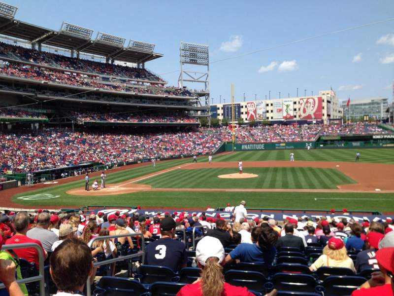 Seating view for Nationals Park Section 129 Row Cc Seat 15