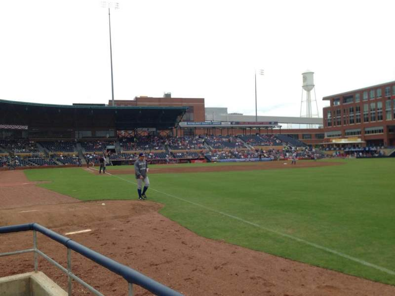 Seating view for Durham Bulls Athletic Park Section 122 Row A Seat 1